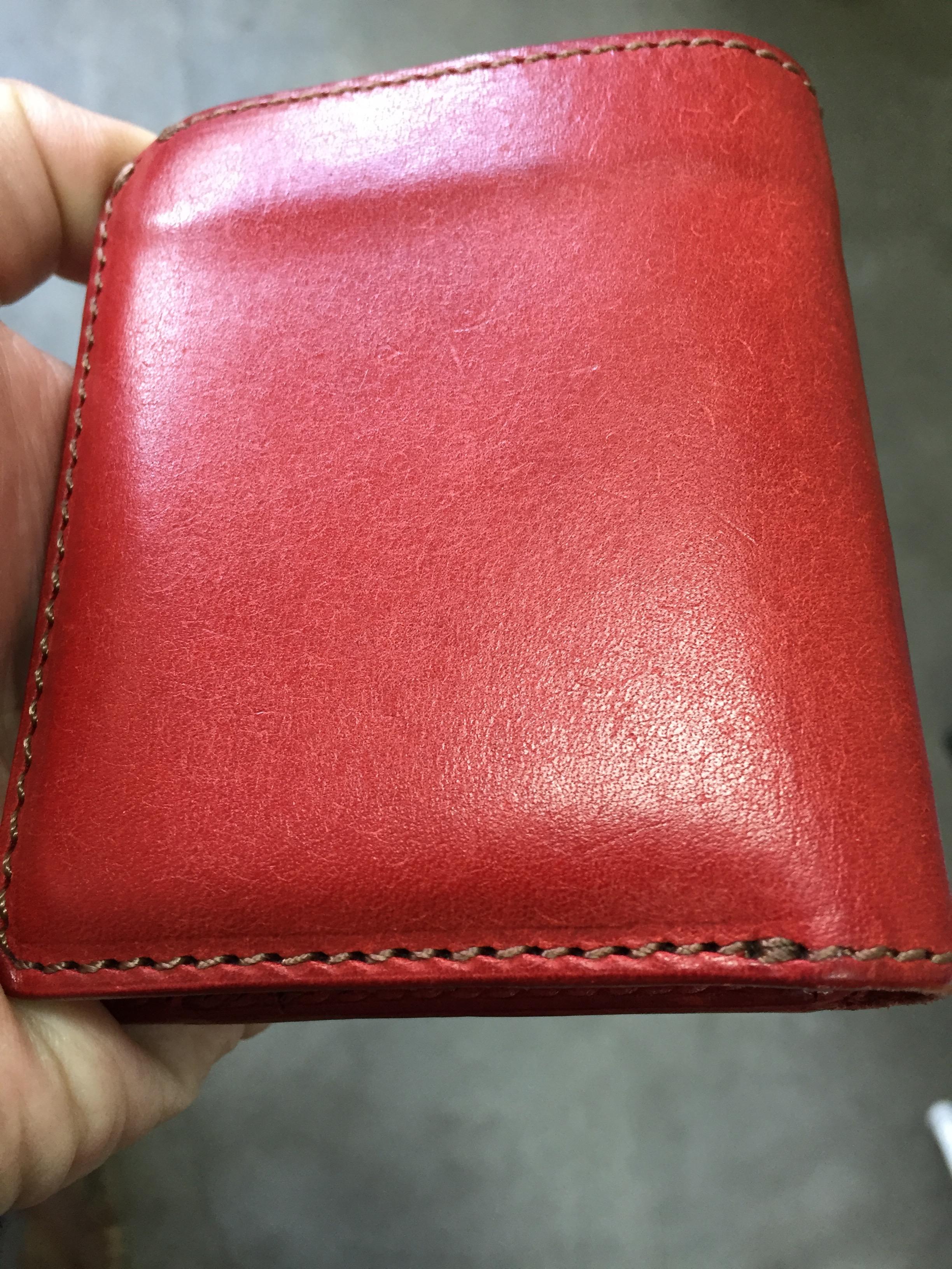 二つ折り財布の裏側(4ヶ月)